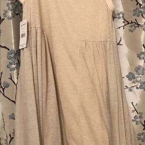 Free People Dresses - FP FLOWING CREAM GOLD MEDIUM DRESS